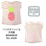 BONHEUR DU JOUR  パイナップル柄Tシャツ(1